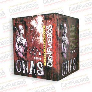 ONAS – Torta de 7 morteros de 1 3/4″ bombas doradas efecto w/crackling