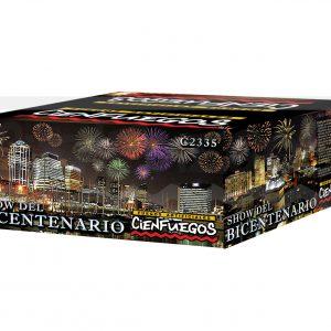 SHOW DEL BICENTENARIO – super show 100 tiros, bombas de 2″ con colores y efectos surtidos