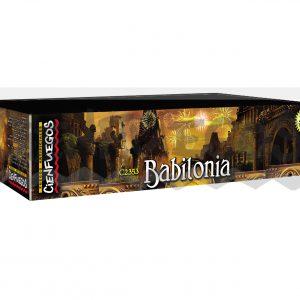 BABILONIA- Torta de 276 tiros con bombas de efectos y colores surtidos