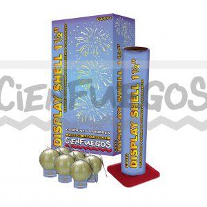 Display Shell Thunder con 6 bombas de estruendo con magnesio de 1 1/2″