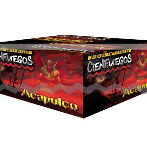 ACAPULCO – Torta de 140 tiros de 1 1/2″ con bombas de colores y efectos surtidos