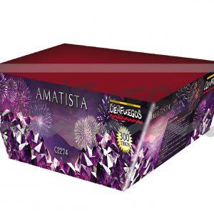 AMATISTA – Torta 300 tiros en X  efecto trazante color púrpura y verde