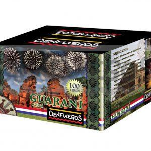 GUARANI – Torta 100 tiros de 1″ con bombas de colores y efectos surtidos