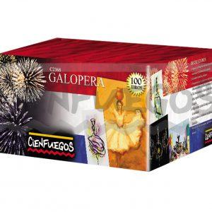 GALOPERA – Torta de 100 tiros de colores y efectos surtidos