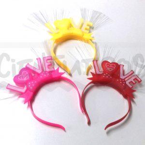 VINCHA LOVE C/ LED
