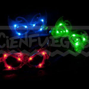 ANTEOJOS MARIPOSA C/ LED – Colores varios