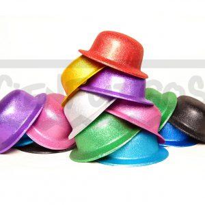 GORRO BOMBÍN CON PURPURINA – de plástico Varios colores