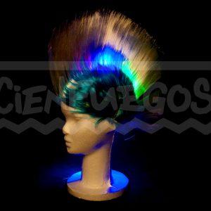 PELUCA PUNK CON LED – Peluca luminosa colores varios.