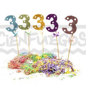 NUMEROTES gibre – Números en goma eva  con gibre lisos y a lunares – colores surtidos ( del 0 al 9)