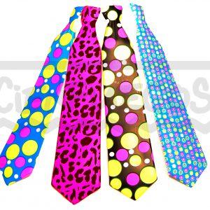 CORBATA  FLUO – Corbata de plástico c/diseños surtidos