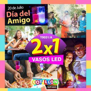 VASO TRAGO C/LED( ROSA-ROJO-BLANCO-AZUL)