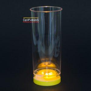 VASO TRAGO C/LED ( Violeta-Naranja-Amarillo-Verde)
