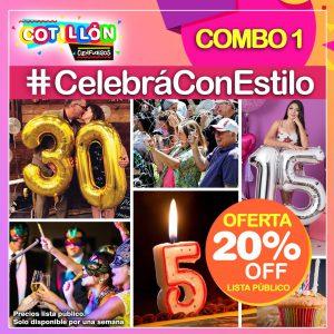Combo 1 #CelebráConEstilo