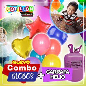 COMBO GLOBOS + GARRAFA HELIO