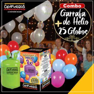COMBO GARRAFA DE HELIO + 25 GLOBOS